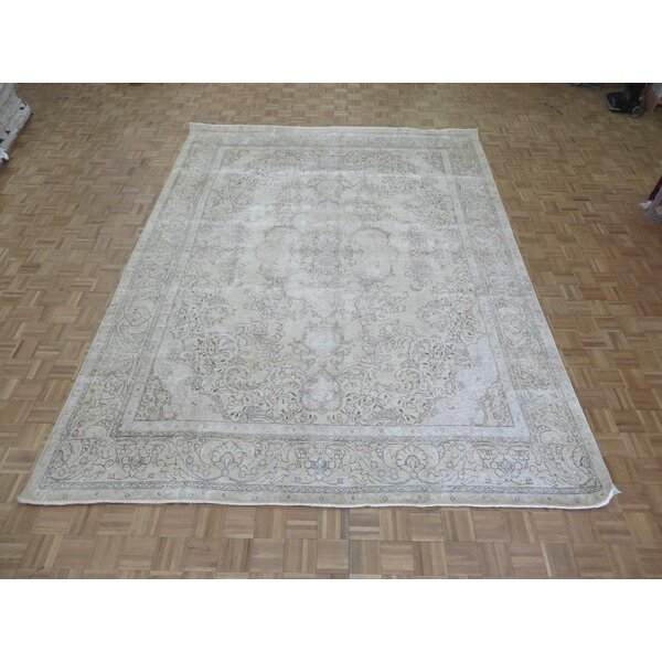 One-of-a-Kind Padro Hand-Knotted Light Gold Area Rug by Bloomsbury Market