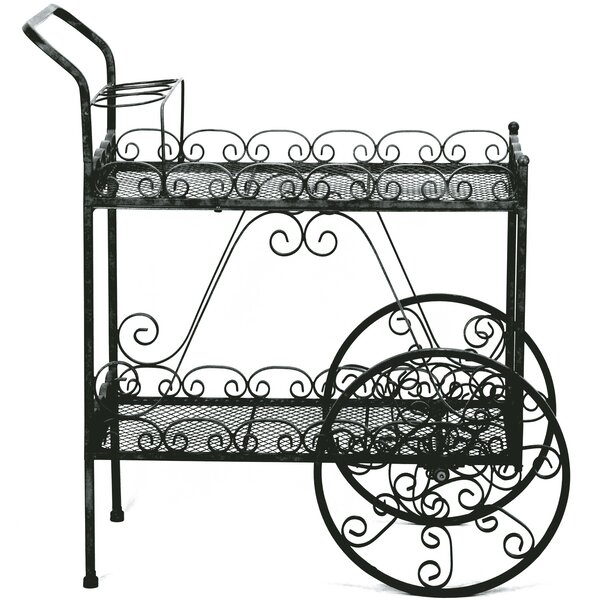 Wheelbarrow Plant Stand by Deer Park Ironworks