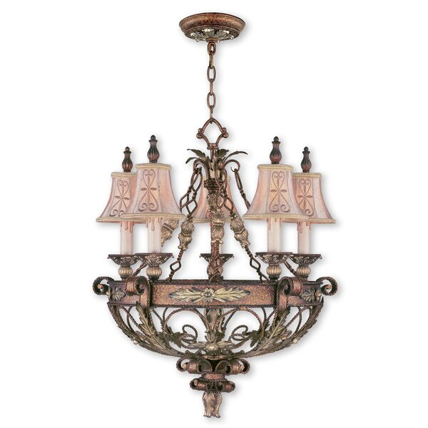 Rabon 5-Light Shaded Empire Chandelier By Fleur De Lis Living
