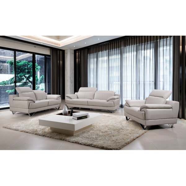 Waco 3 Piece Living Room Set by Orren Ellis