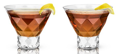 Raye™ Gem Crystal 7.5 oz. Martini Glass (Set of 2) by Viski