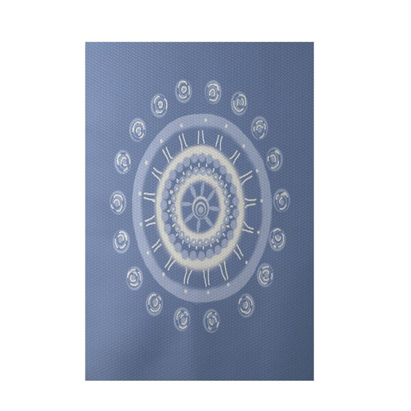 Geometric Light Blue Indoor/Outdoor Area Rug by e by design