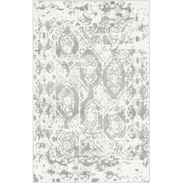 Hartell Light GrayArea Rug by Bungalow Rose