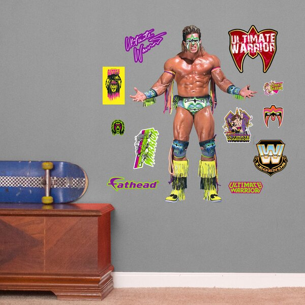 WWE Ultimate Warrior Peel and Stick Wall Decal by Fathead