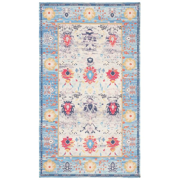Sonakshi Hand Tufted Blue Area Rug by Bungalow Rose