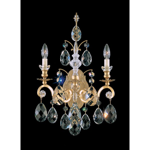 Renaissance 2-Light Candle Wall Light by Schonbek