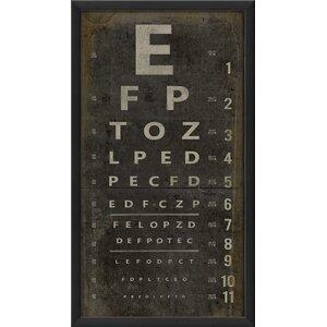 'Eye Chart' Framed Textual Art by Trent Austin Design
