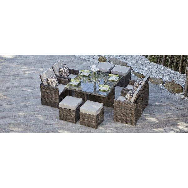 Saltville 9 Piece Dining Set with Cushions by Brayden Studio