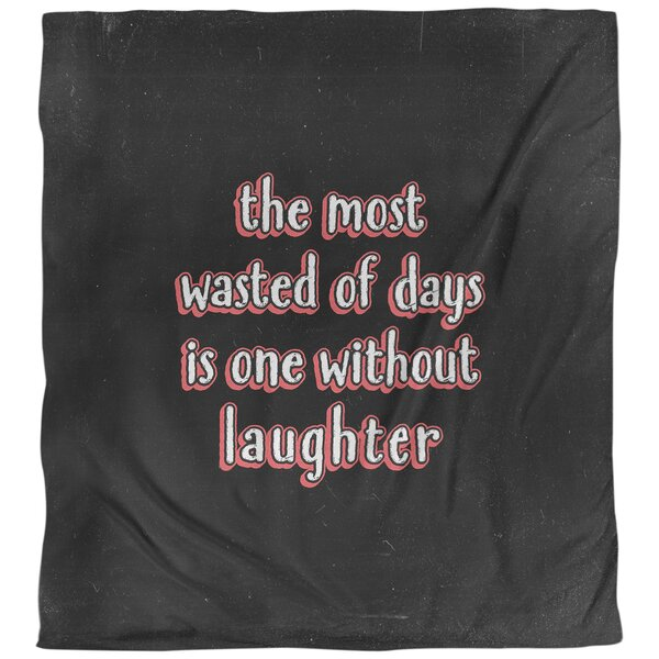 Laughter Inspirational Quote Single Duvet Cover