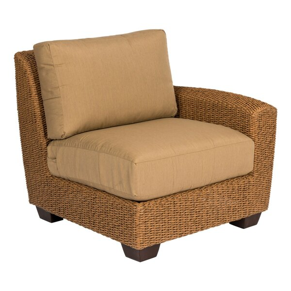 Saddleback Right Arm Sectional Piece with Cushions by Woodard