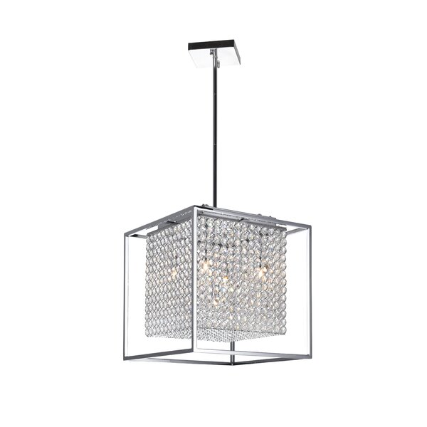 Beckles 5 - Light Unique / Statement Rectangle / Square Chandelier By House Of Hampton