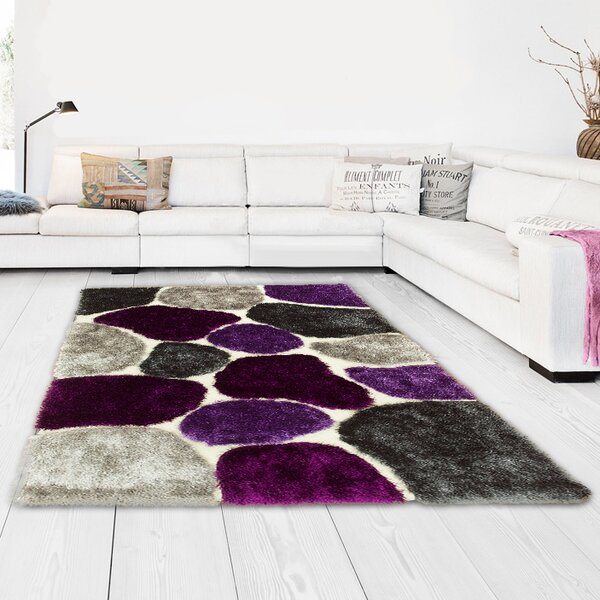 Hand-Tufted Lilac Purple/Gray Area Rug by LYKE Home