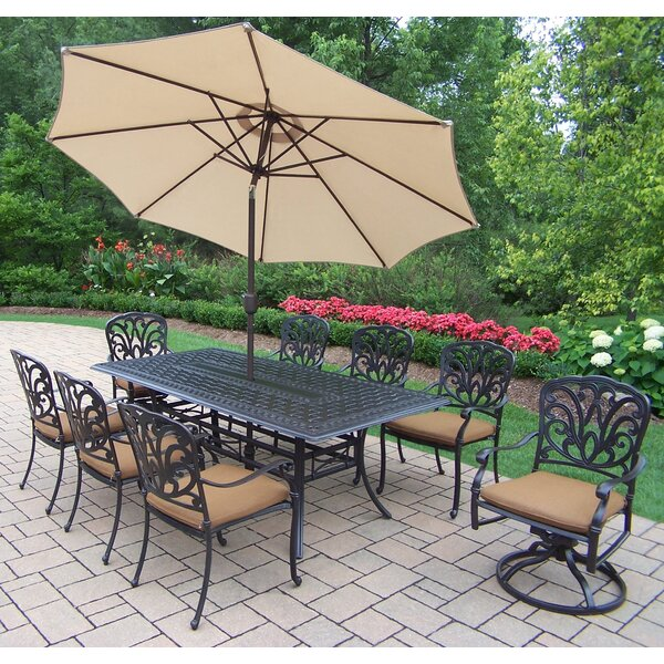 Bosch 9 Piece Dining set with Sunbrella Cushions