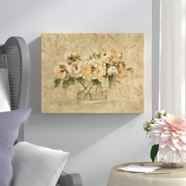 Peonies In Glass Painting Print On Wrapped Canvas By Lark Manor.