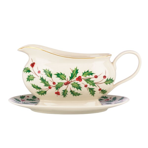 Holiday Gravy Boat with Stand by Lenox