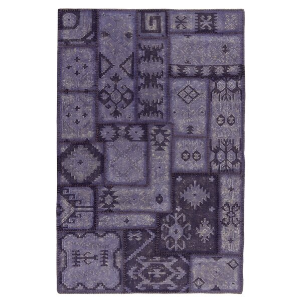 Annabelle Kilim Hand-Woven Lavender Patchwork Area Rug by Kosas Home