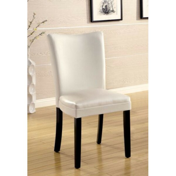 Rohando Leather Upholstered Dining Chair (Set of 2) by Red Barrel Studio