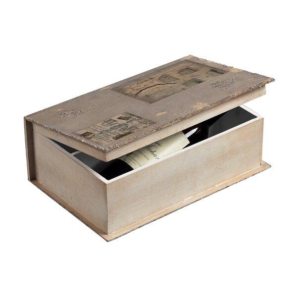 Brasstown Wine Holder Book Box by Fleur De Lis Living