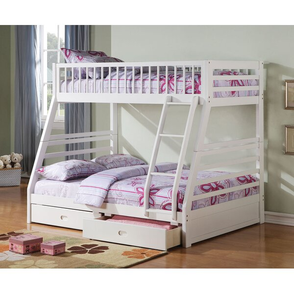 Samiyah Twin/Full Bunk Bed with Drawers by Harriet Bee