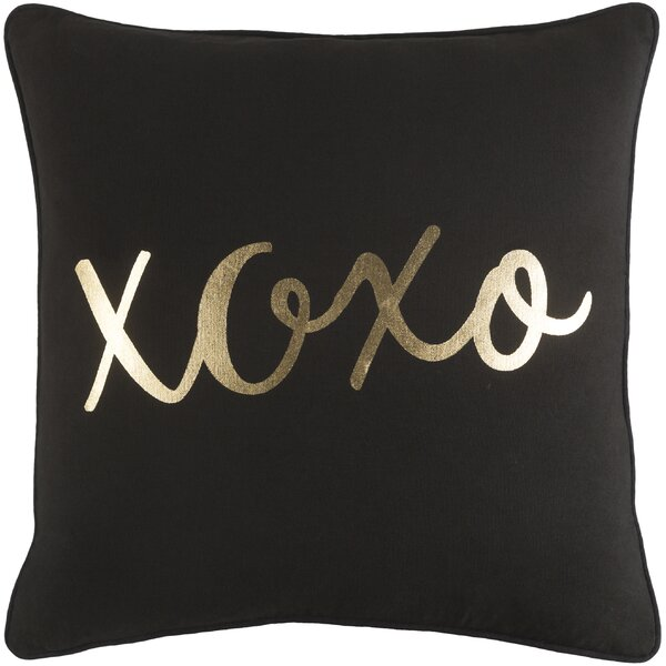 Carnell Hugs and Kisses Cotton Throw Pillow by Mercury Row