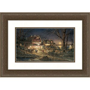 Harvest Moon Ball by Terry Redlin Framed Painting Print by Hadley House Co