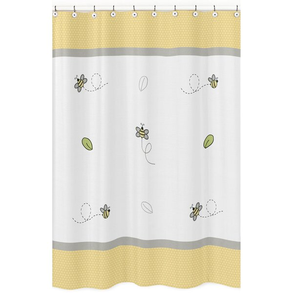 Honey Bee Cotton Shower Curtain by Sweet Jojo Designs