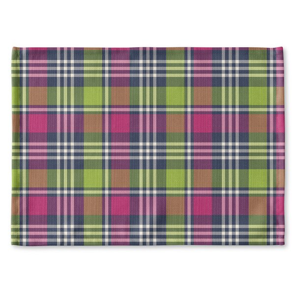 Zoelle Plaid Placemat by Latitude Run