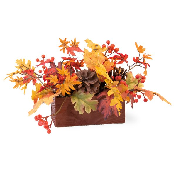Maple Leaves Tablescape Centerpiece by The Holiday Aisle