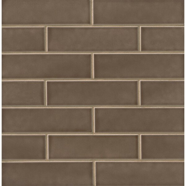 Park Place 2.5 x 9 Ceramic Field Tile in Matte Brown by Grayson Martin