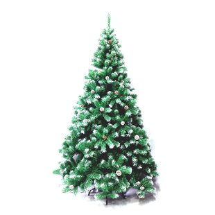 6 green pine artificial christmas tree with stand - Solar Christmas Tree