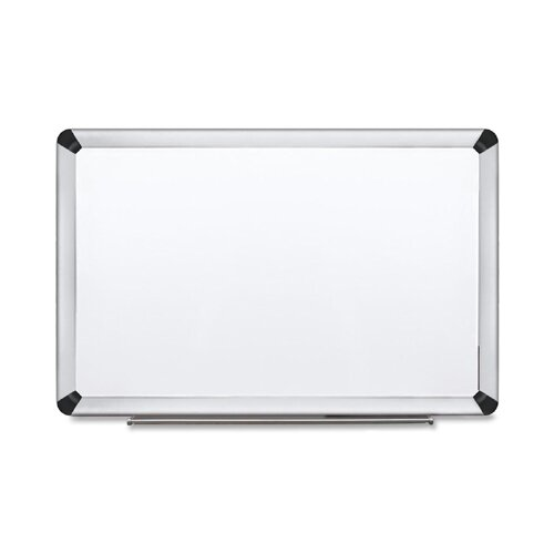 Dry-Erase Porcelain Aluminum Frame Wall Mounted Whiteboard by 3M