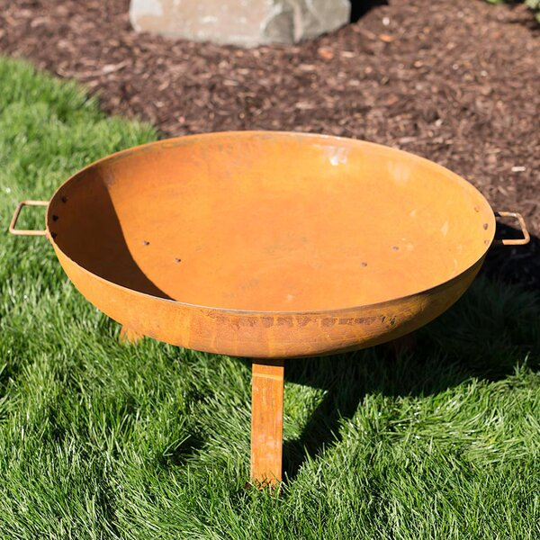 Tidworth Bowl Cast Iron Wood Fire Pit by Williston Forge