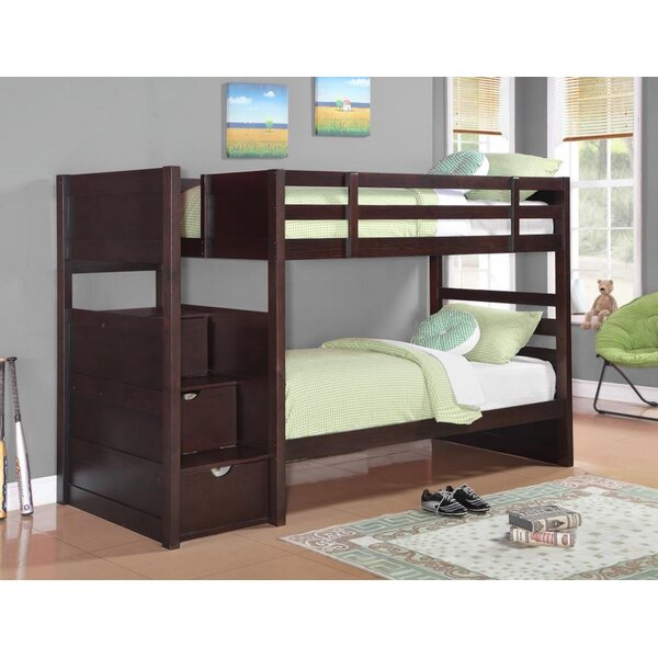 Ventura Twin Over Twin Bunk Bed by Harriet Bee
