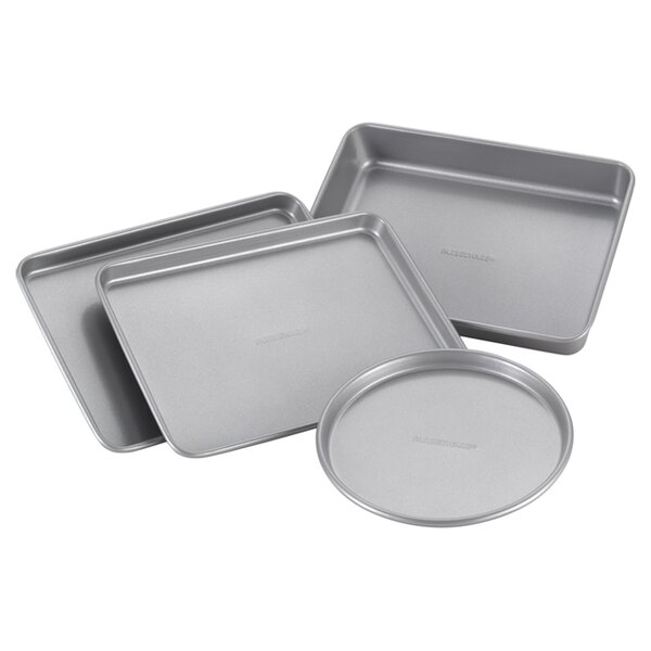 4 Piece Non-Stick Toaster Oven Bakeware Set by Farberware