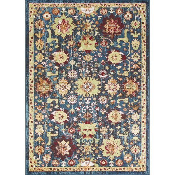 Berklee Beige/Teal Area Rug by Bungalow Rose