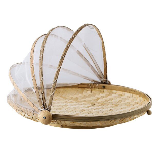 Round Bamboo Serving Tray by Bungalow Rose