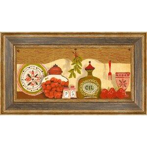 Kitchen Shelf Framed Graphic Art by PTM Images