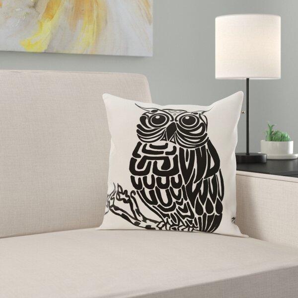 Raegan Hootie Bird Print Throw Pillow by Zipcode Design
