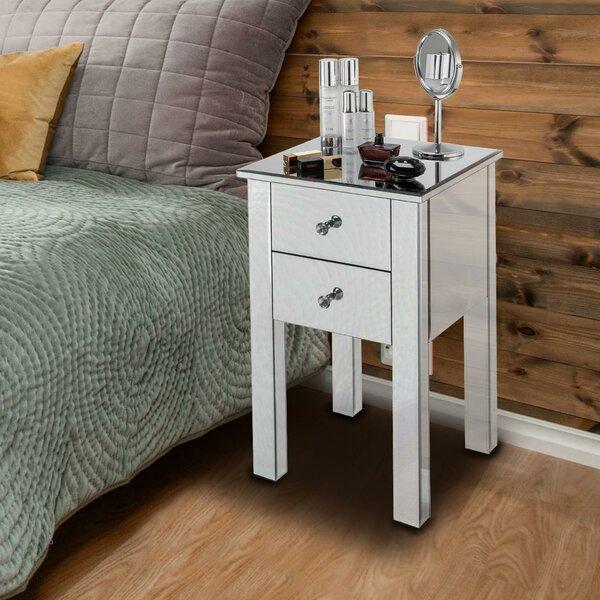 Manatuto 2 - Drawer Nightstand In White By House Of Hampton