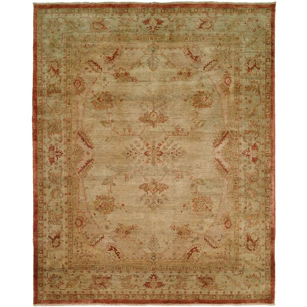 Henryville Hand Knotted Wool Ivory Area Rug by Fleur De Lis Living