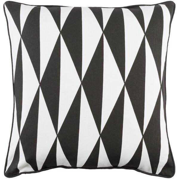 Antonia Geometric Woven Cotton Throw Pillow by Langley Street