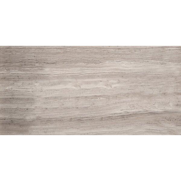 Metro 3 x 6 Marble Wood Look Tile in Gray Vein Cut Honed by Emser Tile