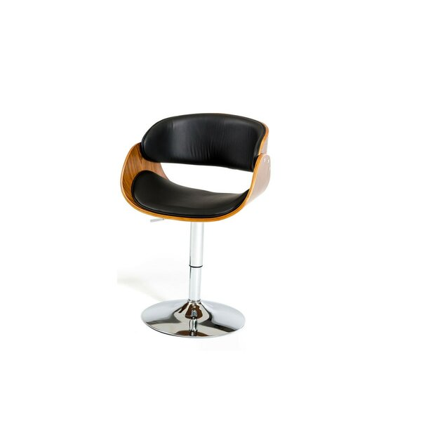 Attica Modern Adjustable Height Swivel Bar Stool by George Oliver