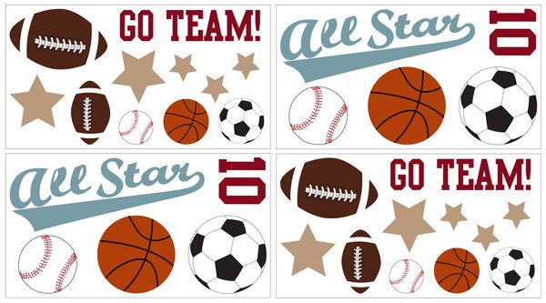 All Star Sports Wall Decal by Sweet Jojo Designs