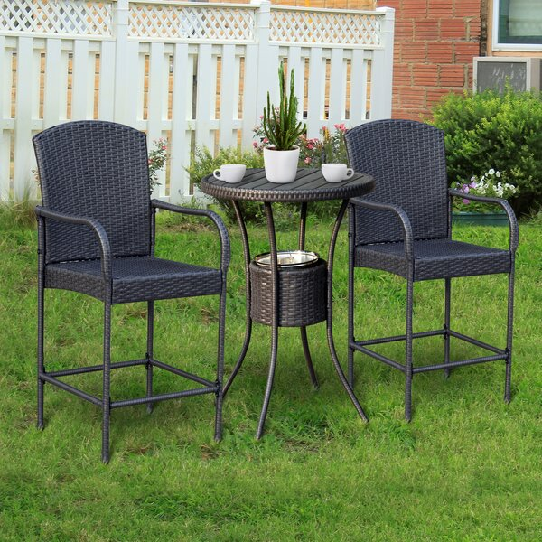Capps Outdoor 3 Piece Bistro Set by Ebern Designs