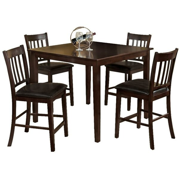 Faulk 5 Piece Counter Height Solid Wood Dining Set By Darby Home Co Cool