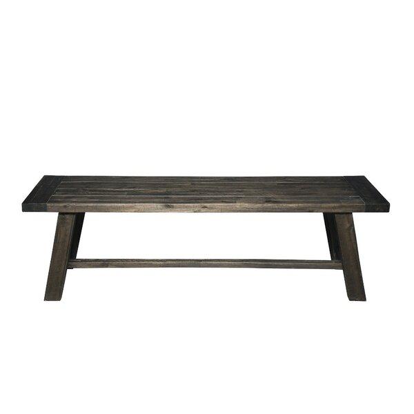 Blase Acacia Wood Bench by Gracie Oaks