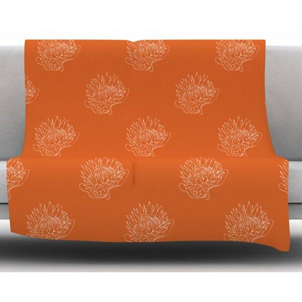 Simpley Protea by Anneline Sophia Fleece Blanket by East Urban Home