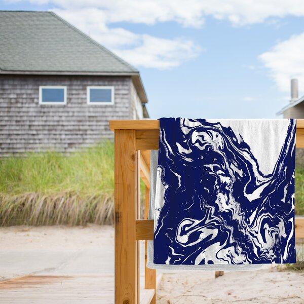 Wave Beach Towel by East Urban Home