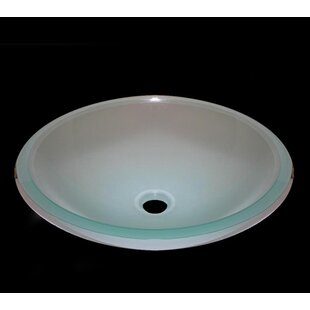 Inexpensive Frosted Glass Circular Vessel Bathroom Sink ByLegion Furniture